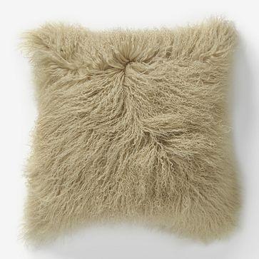 Mongolian Lambskin Pillow West Elm