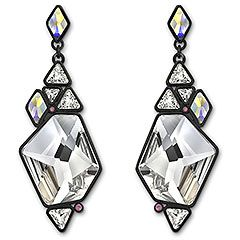 Stunning pair of Rocket Pierced Earrings inspired by a mosaic #swarovski