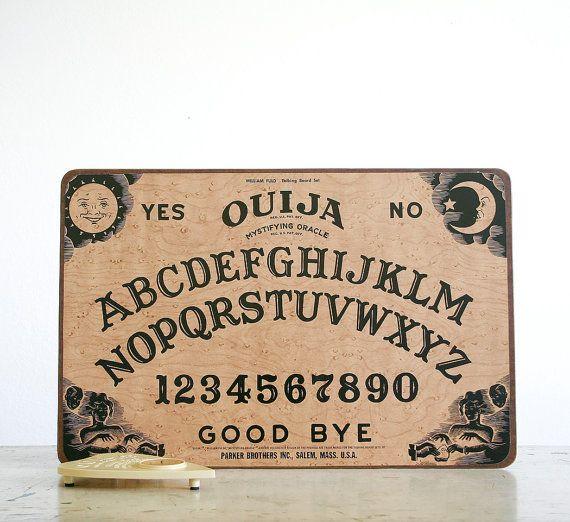 Vintage Ouija Board Good Halloween decoration but I\u0027d be too