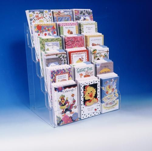 Literature Acrylic Counter Display Stand 6 Tier 16 Made In Usa