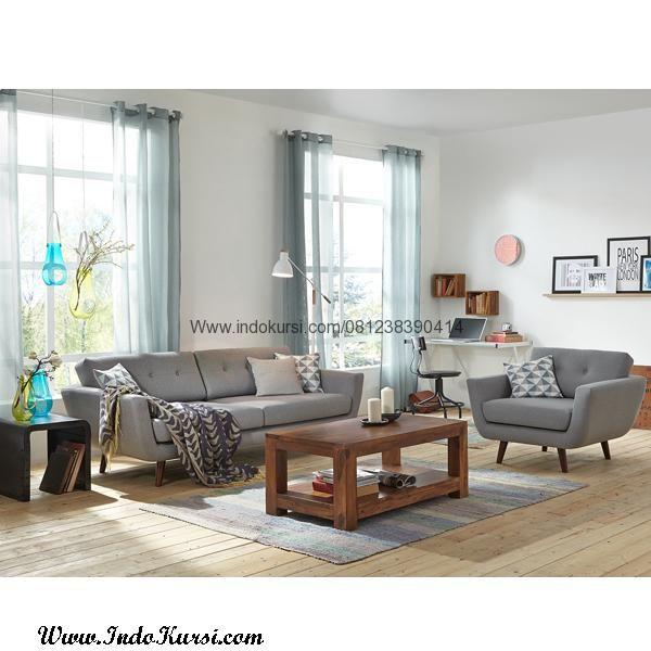 Jual Set Meja Tamu Minimalis Kursi Vintage Merupakan Desain Sofa Jok Busa Model Scandinavian Yang