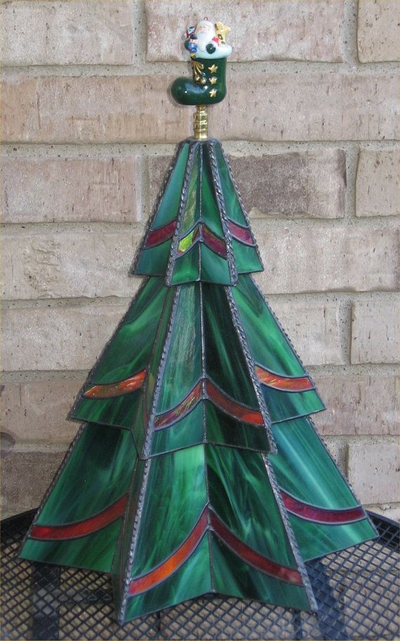Stained Glass Three-Tier Christmas Tree Pattern Christmas tree