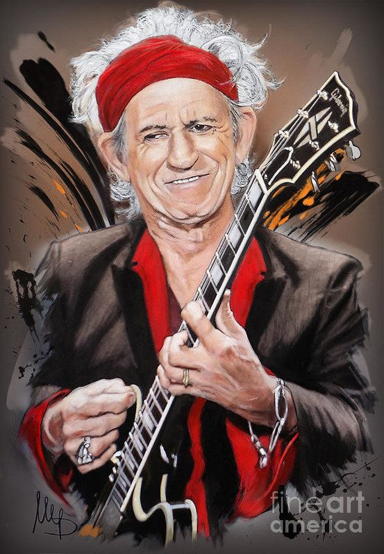 Keith Richards by Melanie D [©2016] | Play That Funky ...
