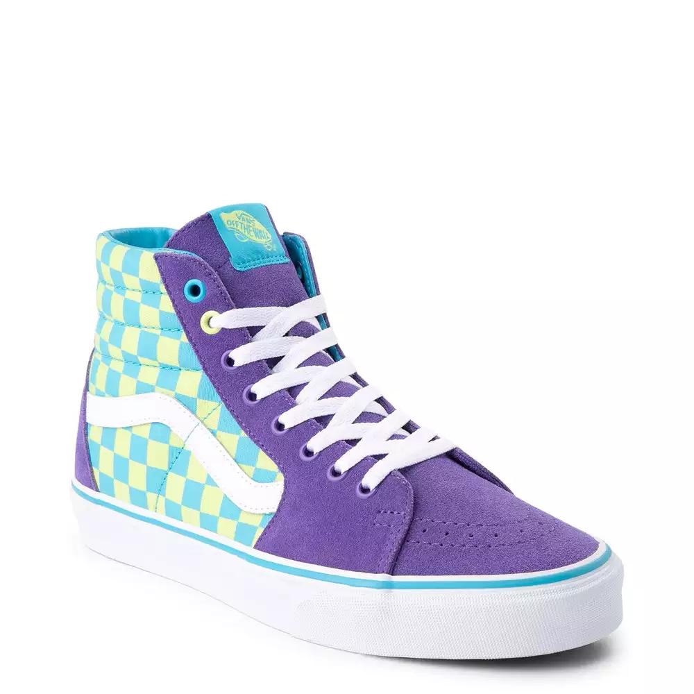Vans Sk8 Hi Checkerboard Skate Shoe