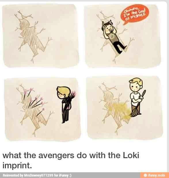 The Loki print.....poor guy.