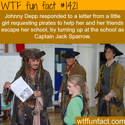 JohnnyDeppvisits school WTF FUN FACTS HOME/SEE MORE tagged/ people FACTS