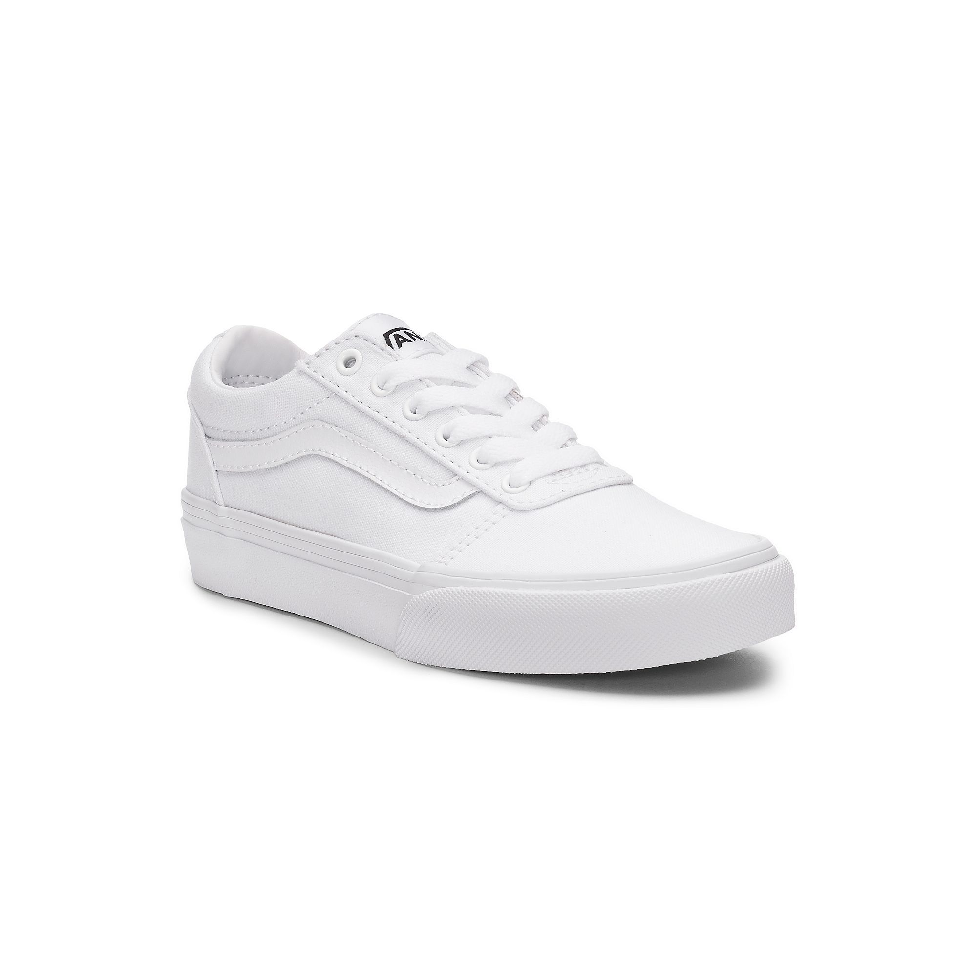 Vans Ward Low Boys' Skate Shoes, Size: 12, White | Boys