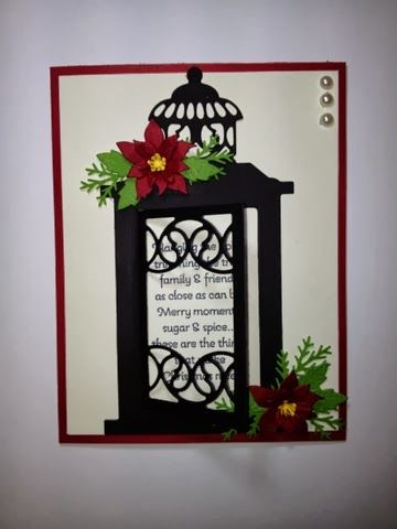 Stampin Up More Merry Messages, Christmas Card, Marianne Design Dies  http://www.rainyboxcrafts.com