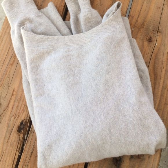 Vince boyfriend wool/rabbit sweater Boyfriend sweater in great condition. Two very faint blue marks but hard to see as it blends in well with the wool gray/bluish fabric. One small pinpoint hole at the right lower corner on the back Vince Sweaters