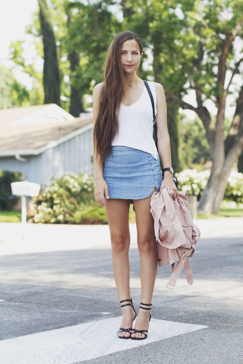 Denim Look Skirt - Dress Ala