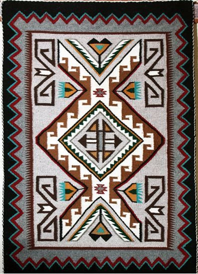 Vintage Teec Nos Pos Navajo Weavings Authentic Native American Rugs Indian Foutztrade Rug By Nellie Be From Az