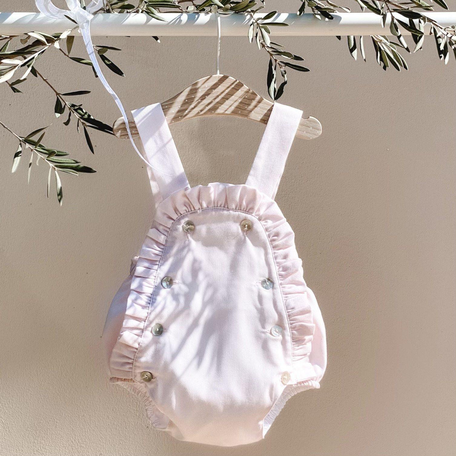 Rosetta Romper + Bonnet - Newborn