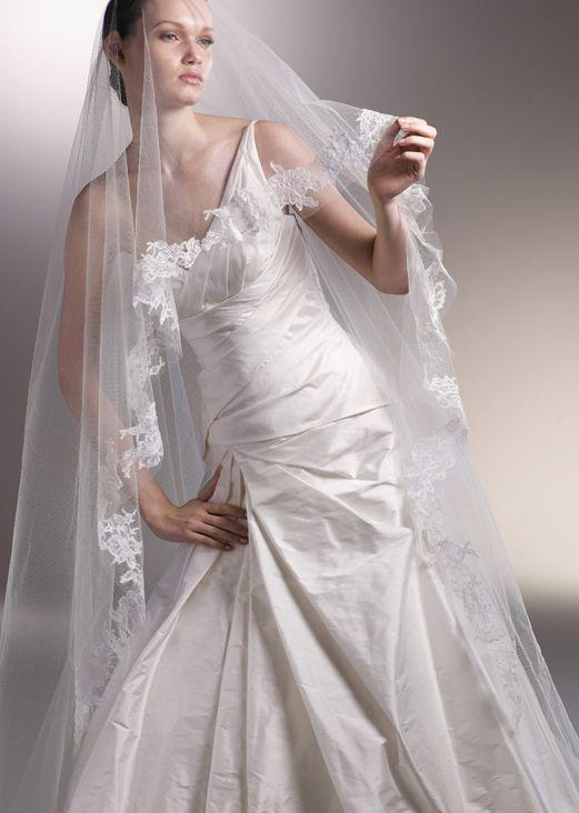 Beautiful Bride Under Veil Wearing Wedding Dress Stock ... |Beautiful Wedding Gowns With Veils