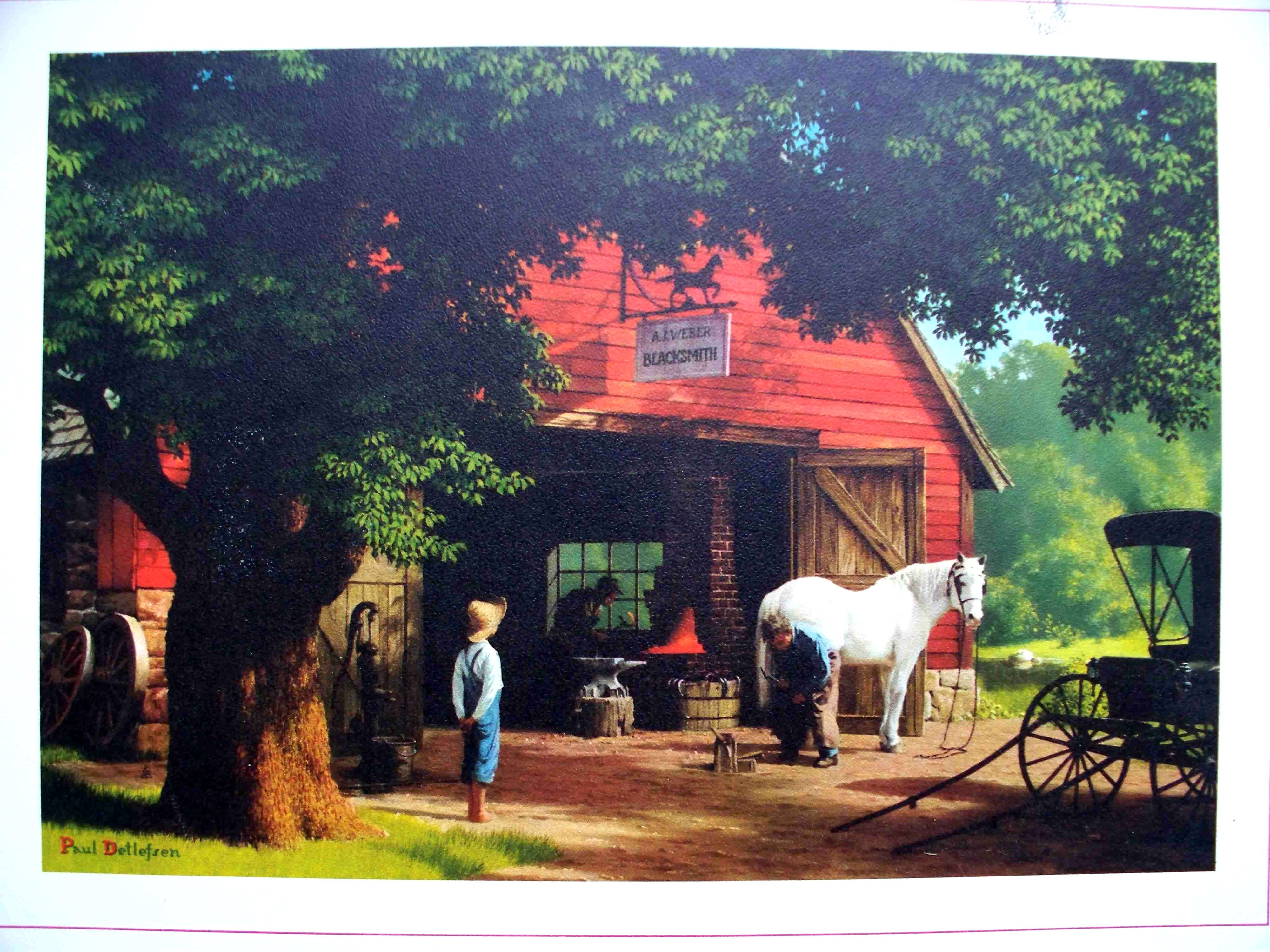 """' Of Favorite Paintings. """"horse And Buggy Days """" Paul"""