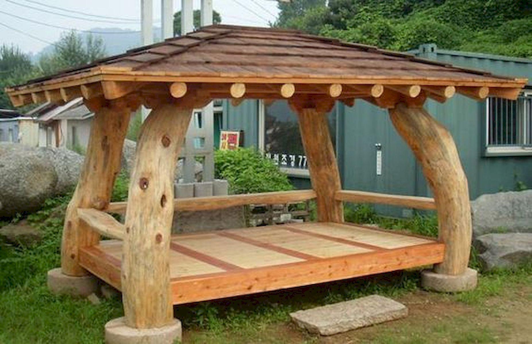 Pin Von Beimar Auf Outdoor Furniture Rustikale Gartenmobel Holzhutte Garten Pavillon Ideen