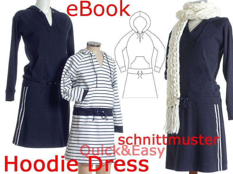 Hoodie Dress SCHNITTMUSTER & NÄHANLEITUNG Gr:34-52 | Pinterest ...