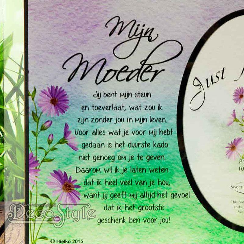 New Fotolijst met Gedicht Just for You – MIJN MOEDER Prachtige #ME93