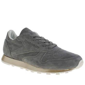Womens Grey Leather Reebok Classic New