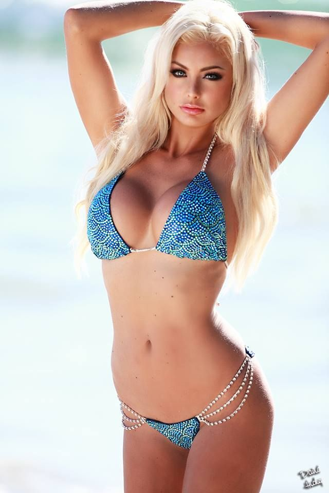 Hot blonde beach