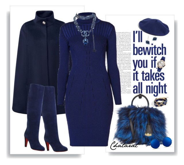 """""""blue clothing We can make it look elegant as well."""" by baree-ikalas ❤ liked on Polyvore featuring BCBGMAXAZRIA, Pure Collection, Rumour London, Christian Louboutin, ABS by Allen Schwartz, Chanel, Vivienne Westwood, MCM, Matthew Williamson and Halogen"""