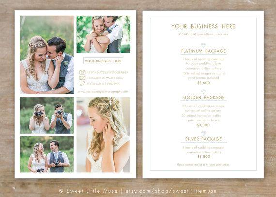 Wedding Photography Price List Template
