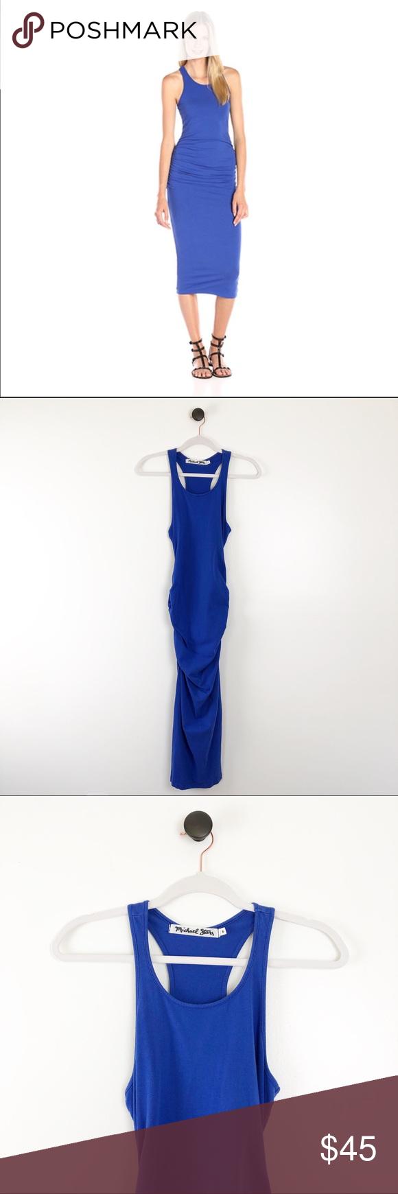 Michael Stars Racerback Midi Dress Blue Size Small Racerback Midi Dress Blue Midi Dress Clothes Design [ 1740 x 580 Pixel ]