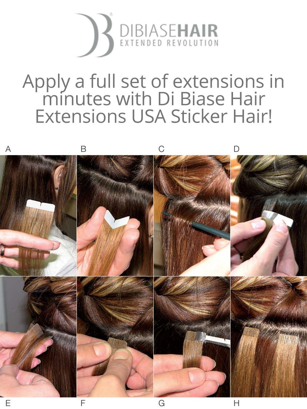 Di Biase Hair Extensions Usa Sticker Hair Is Awesome Apply A Full