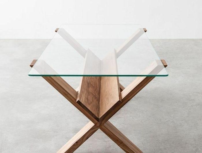 La table basse bois et verre en 43 photos d intérieur!   Bass ... 43ae09cbeba9