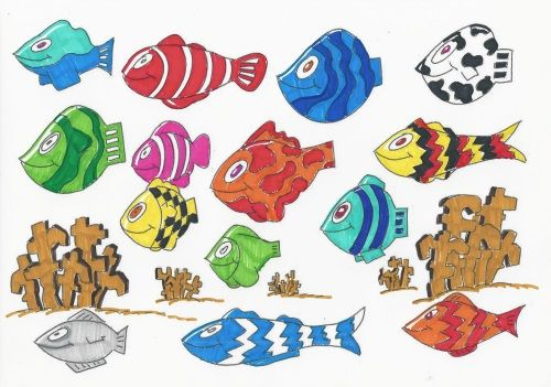 Ausmalbild Unterwasserwelt 1 Ausgemalt Ausmalbilder Pinterest