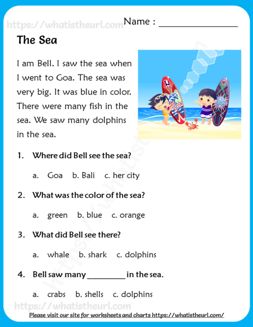 Reading Comprehension For Grade 2