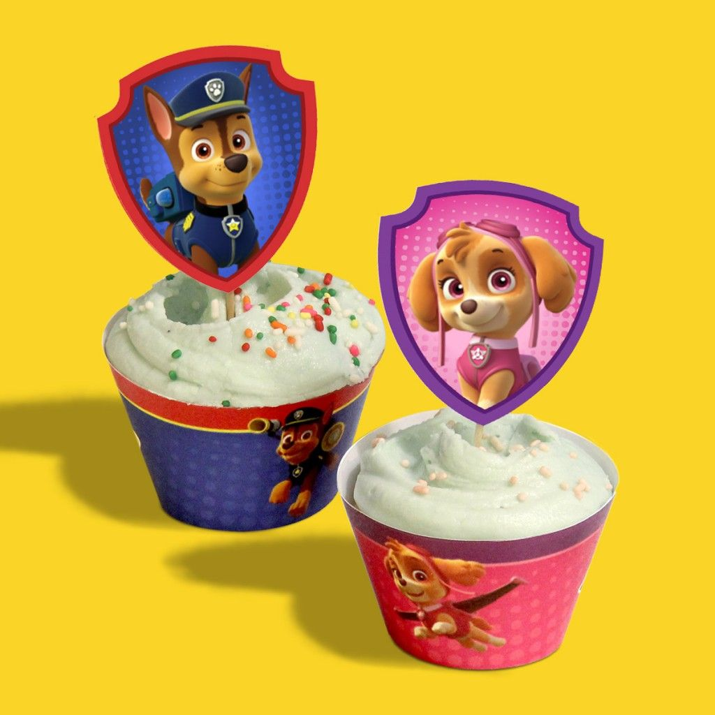 PAW Patrol Birthday Party Cupcake Wrappers - Paw patrol birthday party, Paw patrol skye birthday, Paw patrol birthday, Paw patrol cupcake toppers, Paw patrol party, Marshall paw patrol birthday - You'll be the most pupular parent around when you take ordinary cupcakes and transform them into pupcakes! Use a color printer to print the correct number