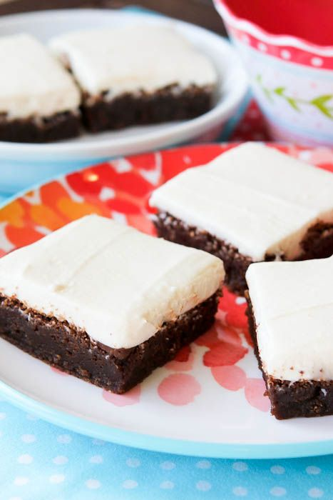 Fudgy Nutella Brownies w/ Cream Cheese Frosting