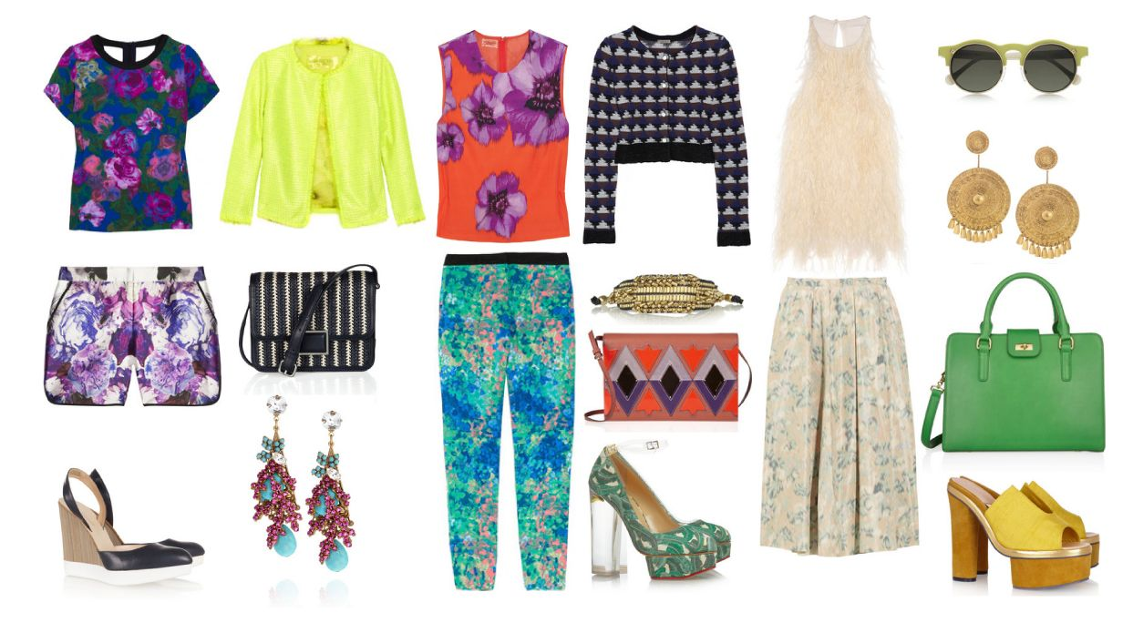 To wear print from head to heel is a precarious endeavor, but there are a few rules to keep in mind when shopping for prints this summer that will help you pull this look off. http://cocopowell.tumblr.com/post/23171892508/as-print-continues-to-trend-strongly-this-season