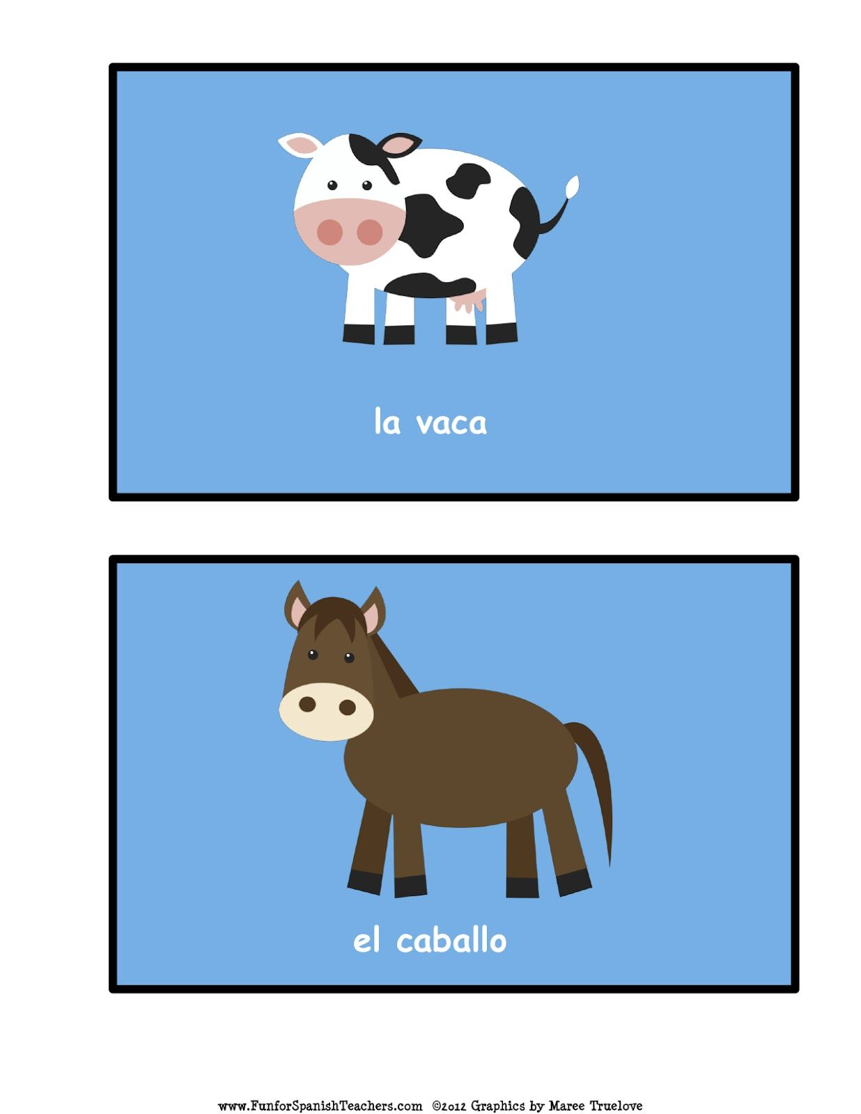 Playing With Flashcards Spanish Together