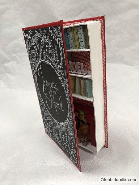 Calendrier de l'avent Livre bibliothèque #calendrierdelaventfaitmaison