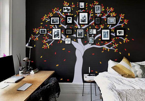 Foto árbol pared calcomanía foto marco árbol por newpoint en Etsy ...