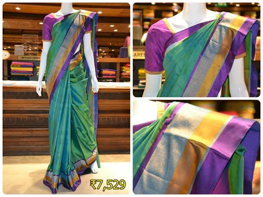 Beautiful Green light weight mayuri soft silk saree for you to look your best.