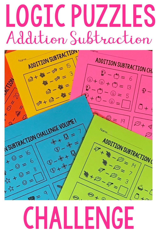 Math Logic Puzzles MEGA BUNDLE | Addition, Subtraction ...