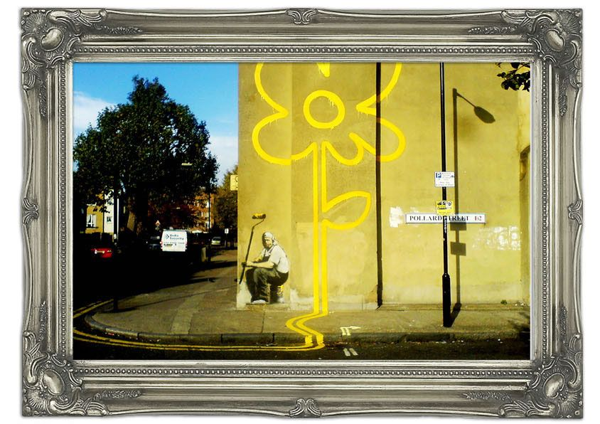 Large Yellow Flower Lines Modern Wall Murals pay a visit to http ...