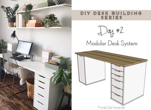 Diy Desk Series 2 Modular Desk System Modular Desk System Modular Desk Diy Desk Plans
