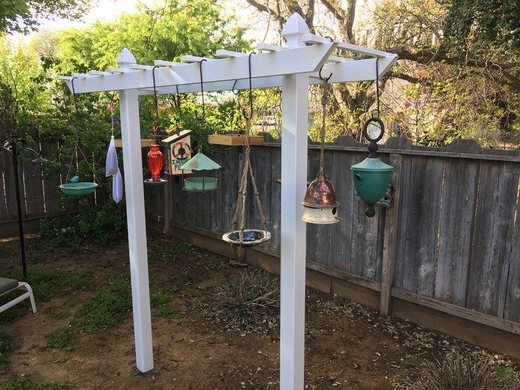 Vinyl Bird Feeding Arbor Bird Feeding Station Garden Bird Feeders Bird Feeder Hangers