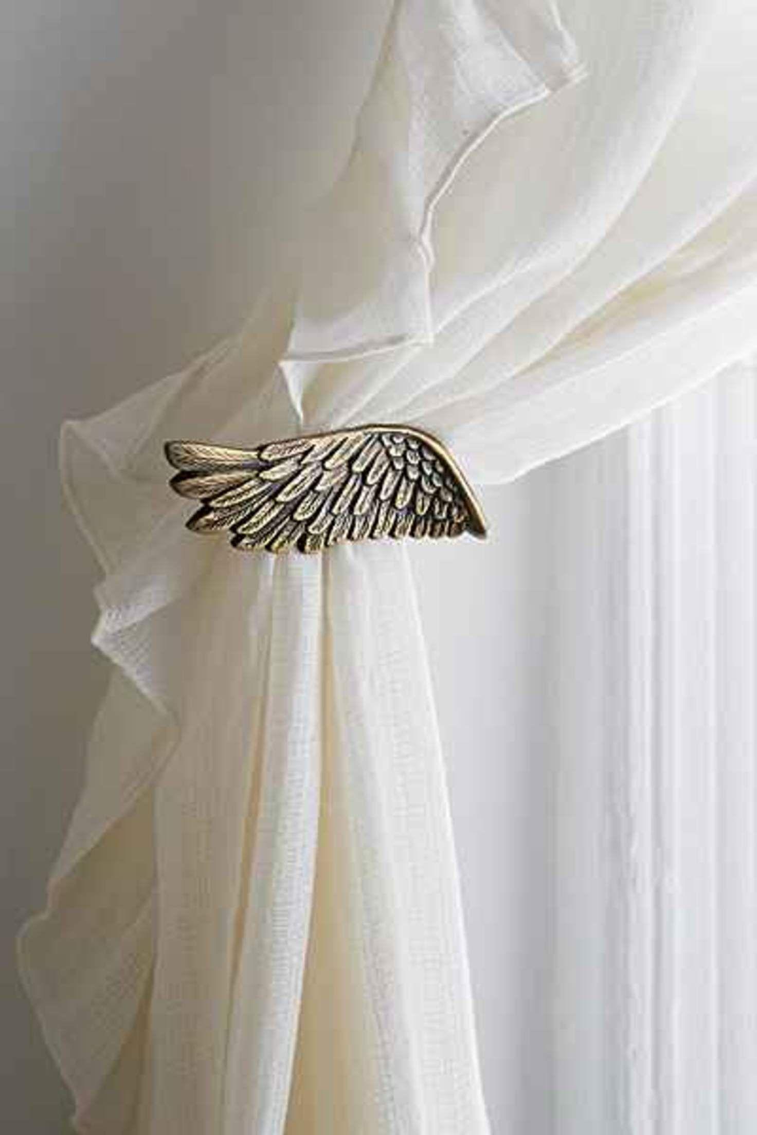 Plum Bow Wing Curtain Tie Back Black Curtain Tie Backs