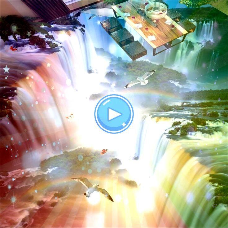 Custom 3D floor modern cliff waterfall bird room wallpaper beibehang Custom 3D floor modern cliff waterfall bird room wallpaper beibehang Custom 3D floor modern cliff wat...