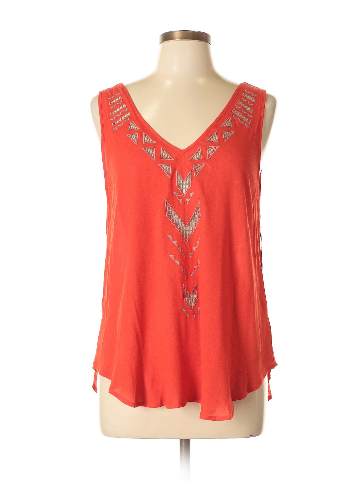 Astr Sleeveless Blouse Size 800 Red Womens Tops  New