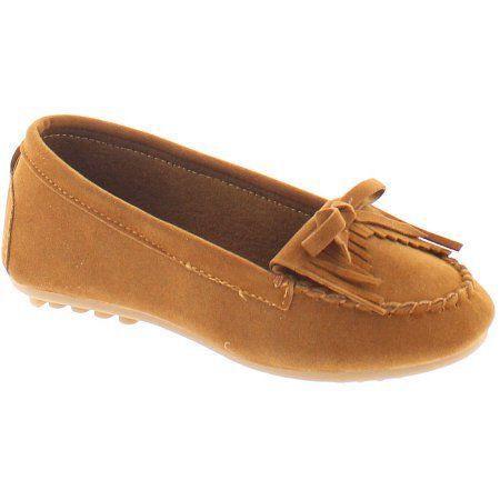 Shoes of Soul Toddler Girls' Bow Slip-on Shoe, Toddler Girl's, Size: 5, Beige
