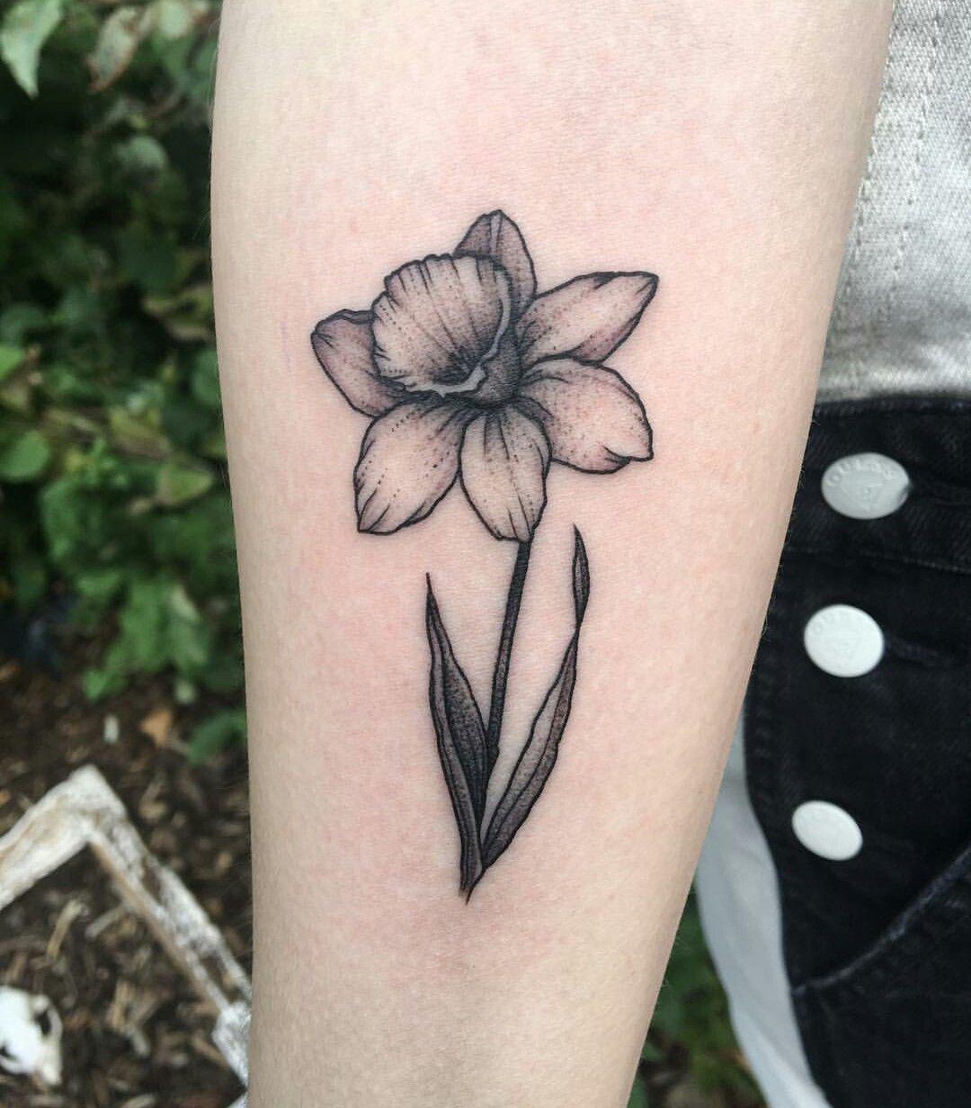 Tattoo by Alivia Ellwein Daffodil tattoo, Small tattoos