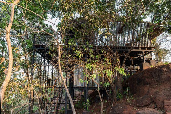 Pavillon mit Reetdach - Natürlich und schön in India | Garten ...