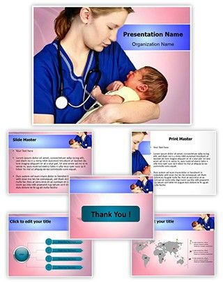 Midwifery PowerPoint Presentation Template is one of the best - nursing powerpoint template