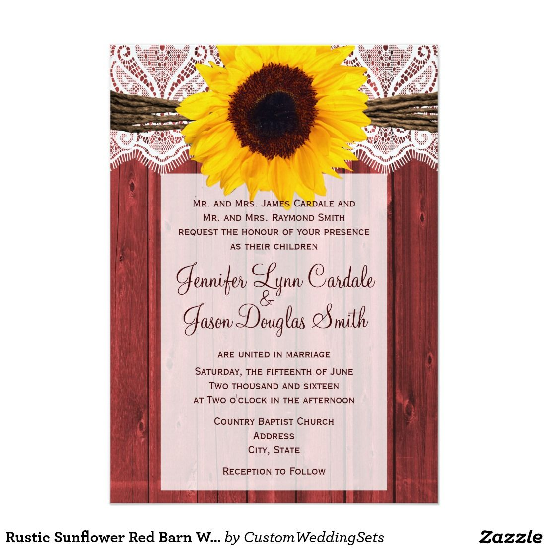 Nautical Blue Stripes Sunflower Wedding Invitation | SUNFLOWER ...