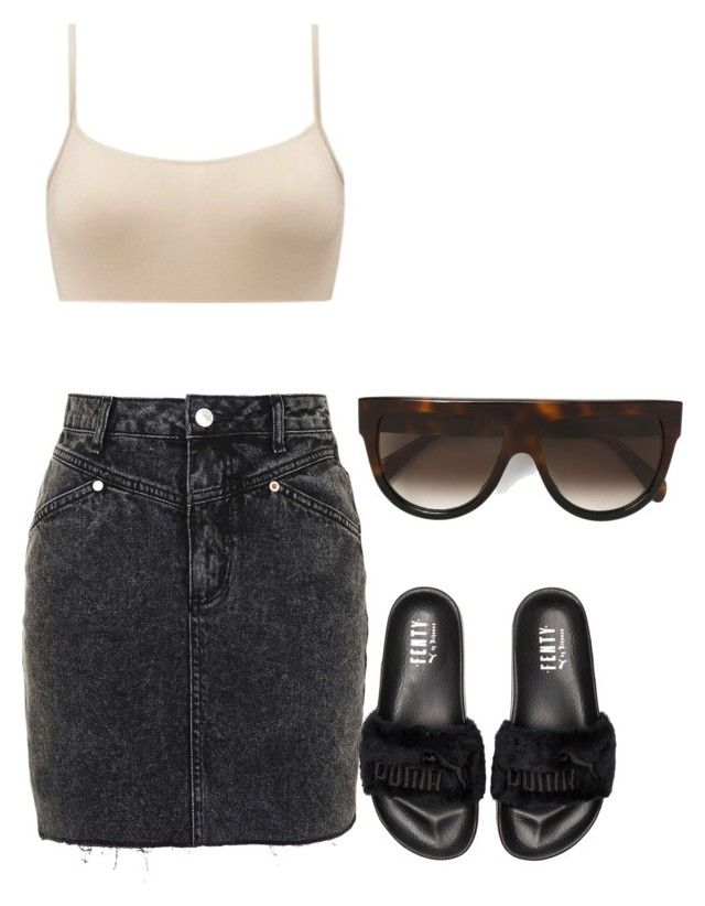 """""""Untitled #505"""" by northwood ❤ liked on Polyvore featuring Topshop, Puma and CÉLINE"""